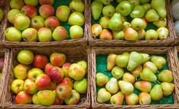 Pears and apples Stock Photography