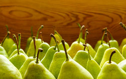Green pears. Green  Ripe Pears. Fruits Background Royalty Free Stock Photos