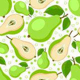 Green pears . Seamless pattern with pears. Stock Photography