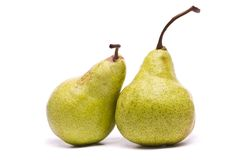 Green pears on white Stock Image