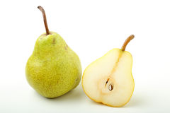 Green  pears on white background Royalty Free Stock Photography