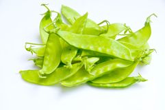 Green peas. On white background Stock Photography