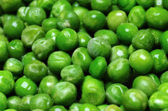 Green peas. A close-up of green peas stock image