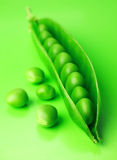 Green peas. Vegetable with seed closeup view Stock Photo