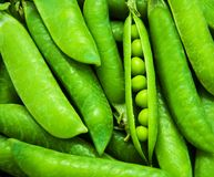 Green peas - background stock photo