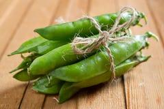 Green peas. A beam of green peas Stock Image