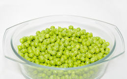 Green peas in the bowl Stock Image