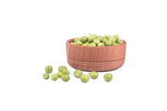 Green peas in a bowl Stock Photography
