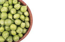 Green peas in a bowl Royalty Free Stock Photo