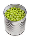 Green peas in can Stock Images