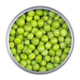 Green peas in can Royalty Free Stock Images