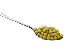 Green peas canned Royalty Free Stock Photos