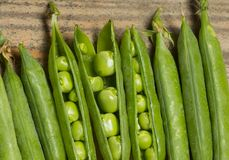Green Peas Close Up Stock Photography