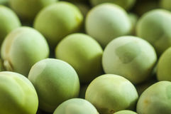 Green peas close up. With blur the background Royalty Free Stock Image