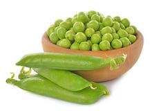 Green peas close up stock photos