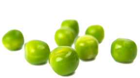 Green peas close-up. On white background Stock Photography
