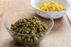 Green peas and corn Stock Image