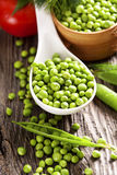 Green peas and fresh vegetables Royalty Free Stock Photos