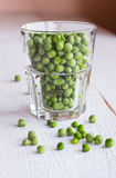 Green peas in a glass. Raw food, vegetables, bean, vegan food Royalty Free Stock Photos