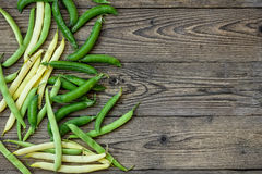 Green peas and green beans Stock Photography