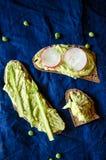Green peas hummus Royalty Free Stock Photos