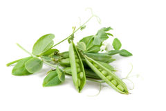 Green peas isolated Royalty Free Stock Photo