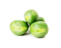 Green peas isolated on the white background Stock Photography