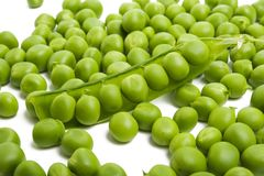 green peas isolated stock images