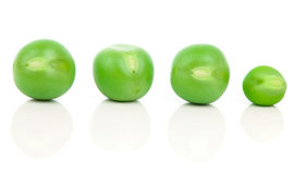 Green peas isolated on white, Royalty Free Stock Image