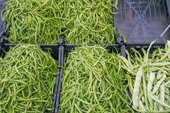 Green peas at a market Stock Image
