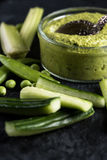 Green peas and mint dip Stock Images