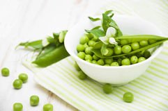 Green peas Stock Photos