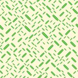 Green peas on the pale yellow background. Seamless pattern Stock Photography