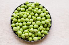 Green peas. The pea is most commonly the small spherical seed, Each pod contains several peas Royalty Free Stock Photography