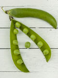 Green Peas in a Pod Stock Photography