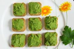 Green peas puree Royalty Free Stock Photo