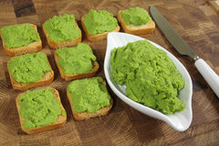 Green peas puree Stock Photography