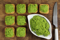 Green peas puree Royalty Free Stock Images