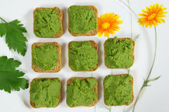 Green peas puree Stock Image