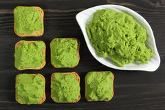 Green peas puree Royalty Free Stock Photos