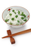 Green peas rice , japanese food Stock Photo
