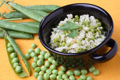 Green peas risotto Stock Photos