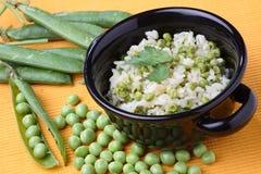 Green peas risotto Stock Photos