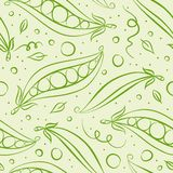 Green peas pattern Royalty Free Stock Images