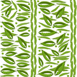Green peas seamless pattern, vegetable background Stock Image