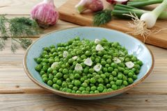 Green peas vegetarian food stock photography