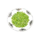 Green peas in ware Stock Photo