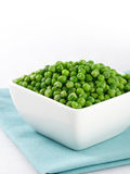 Green peas on white Royalty Free Stock Photo
