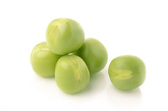 Green peas. On white background Royalty Free Stock Photography