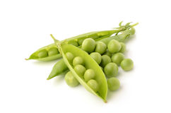 Green peas. On white background Royalty Free Stock Images